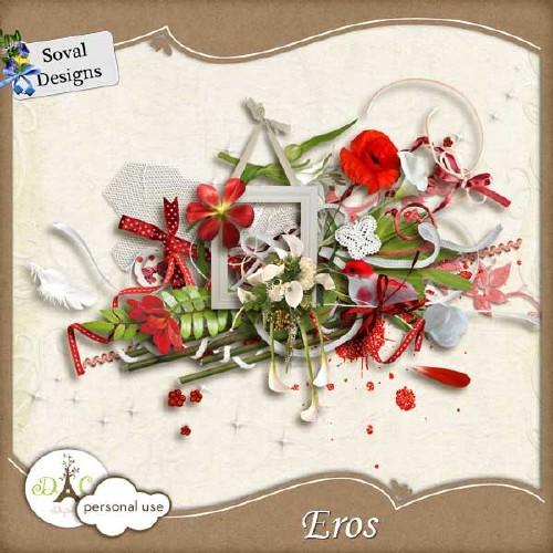 Цветочный скрап-набор - Эрос