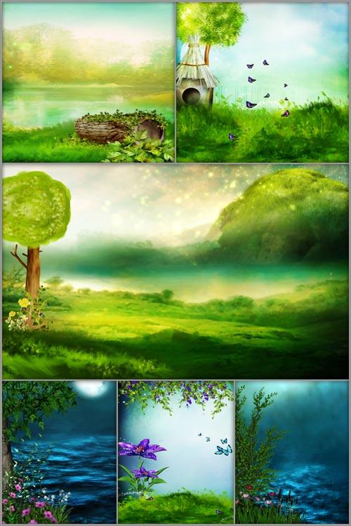 Детские фоны - Сказочный мир 2