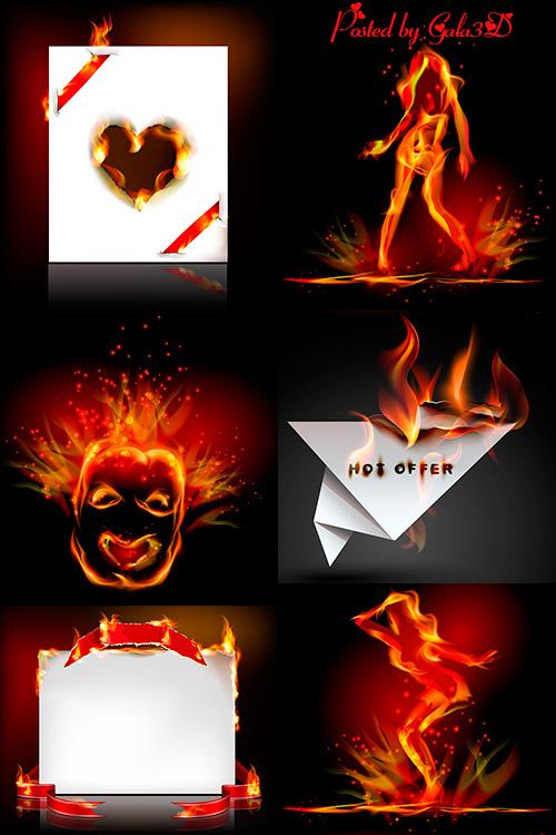 Вектор - Красивый эффект пламени