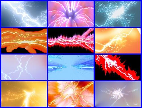 Пак футажей с эффектами электричества
