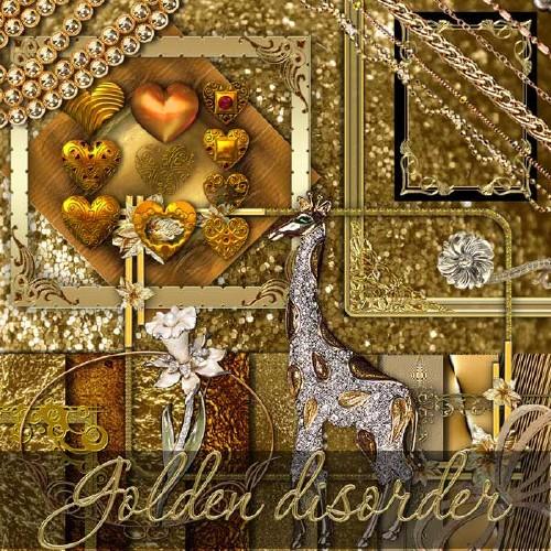 Драгоценный скрап-набор - Золотой беспорядок
