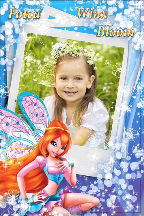 Детская рамка  для фото  с волшебницей Winx - Блум