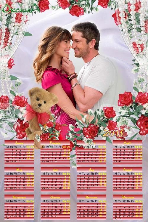 Календарь с розами на 2013 год – Bi Mine