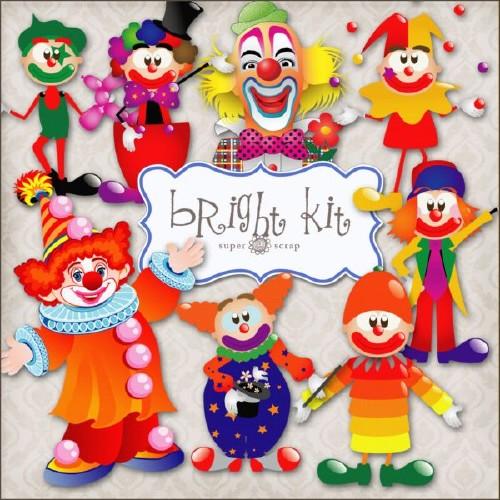 Цирковой скрап-набор - Весёлые клоуны