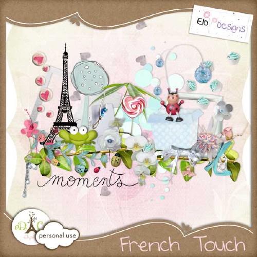 Романтический скрап-набор - Французское прикосновение
