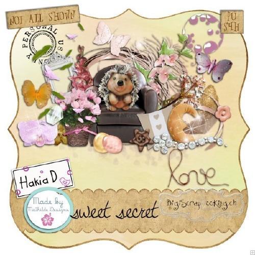 Детский скрап-набор - Сладкая тайна
