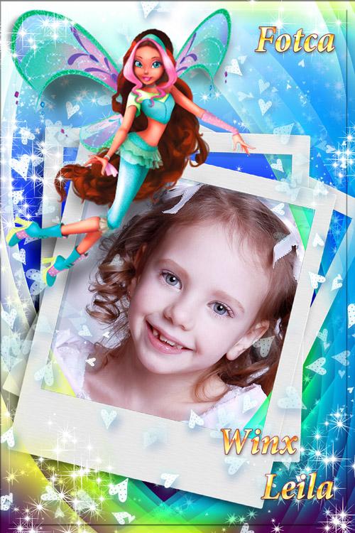 Детская рамка  для фото  с волшебницей Winx - Лейла