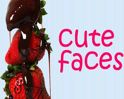 Симпатичные лица - кисти для фотошоп