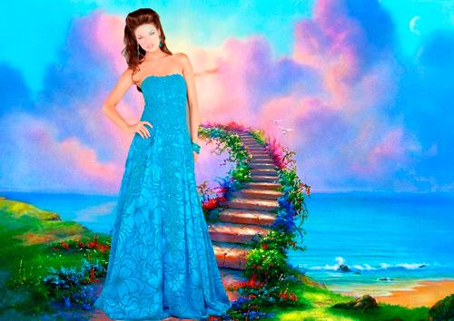 Шаблон для фотошопа - Красавица небесной красоты