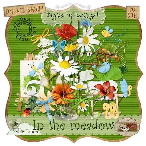 Яркий цветочный скрап-набор - На поляне