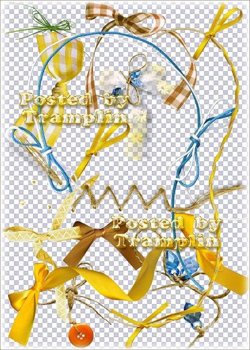 Клипарт на прозрачном фоне – Банты, завязки, прошивки