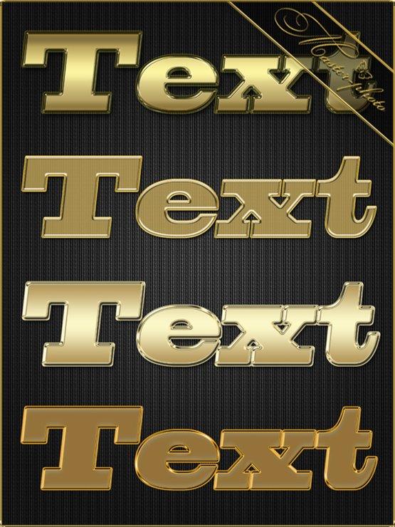 Набор золотых стилей для фотошопа - Mix 18