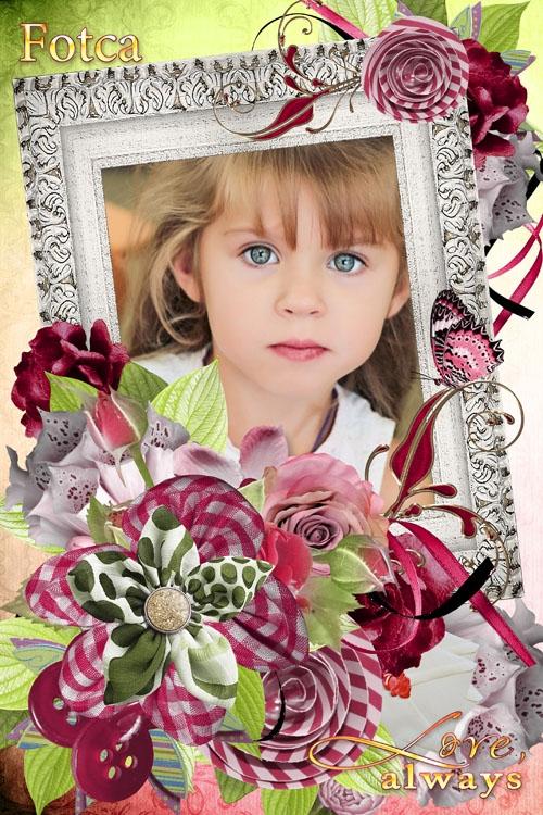 Цветочная рамка для фото - Вечная любовь