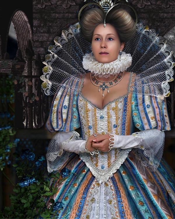 Шаблон женский - В замке королевы