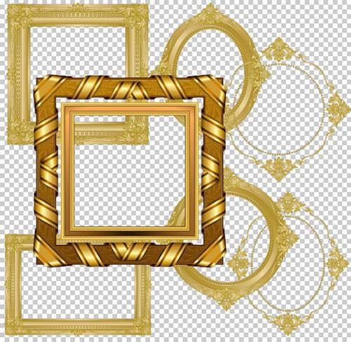 Клипарт - Рамки вырезы прозрачный фон