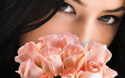 Шаблон женский - розы