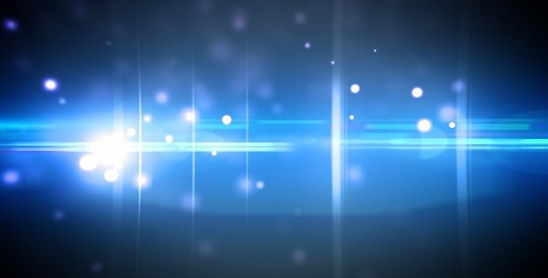 AE Particles and optical flares blue