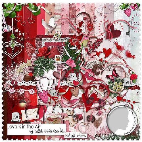 Романтический скрап-набор - Воздушная любовь