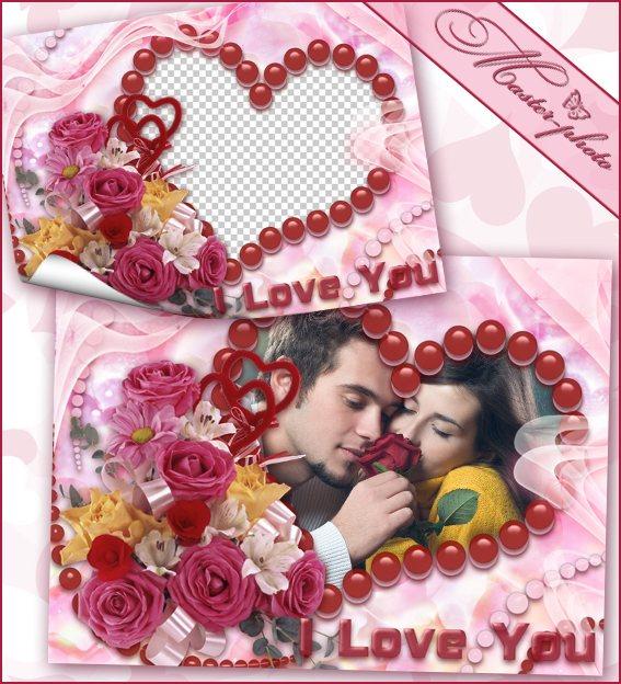 Романтическая рамка для фотошопа - Дыхание роз