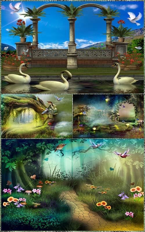 Фоны для фотошопа - Волшебная фантазия