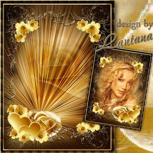 Романтическая рамочка - Перламутровая роза