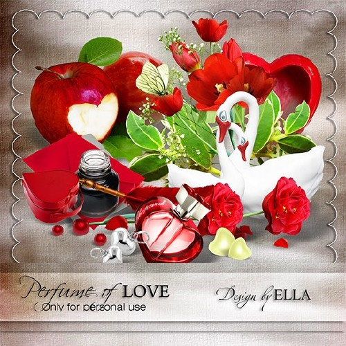 Романтический скрап набор - Аромат любви