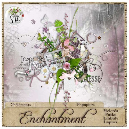 Цветочный скрап-набор - Очарование