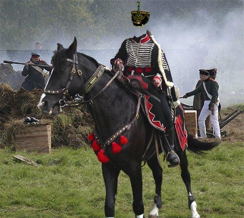 Мужской шаблон  - Гусар на коне