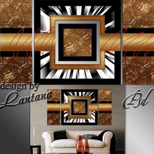 Полиптих в PSD - Люблю я бронзу, злато, медь