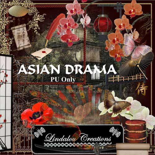 Восточный экзотический скрап-набор - Азиатская драма