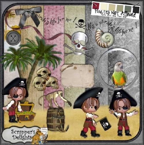 Детский скрап-набор для мальчишек - Маленький пират