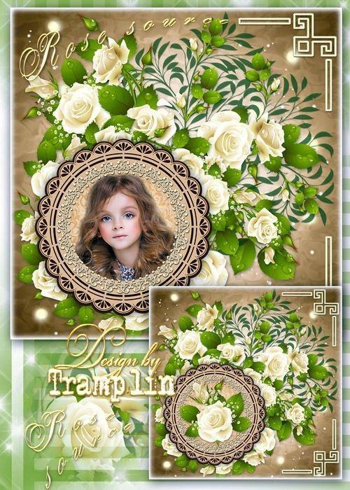 Многослойный исходник цветочный - Я в розах ароматных утону