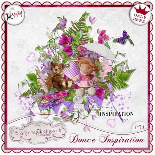 Цветочный скрап-набор - Умиротворённое вдохновение