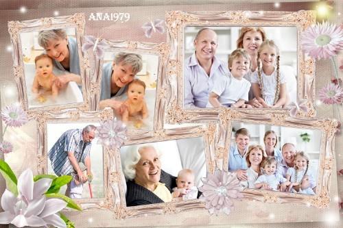 Рамка для фотошопа - Со мной всегда моя семья