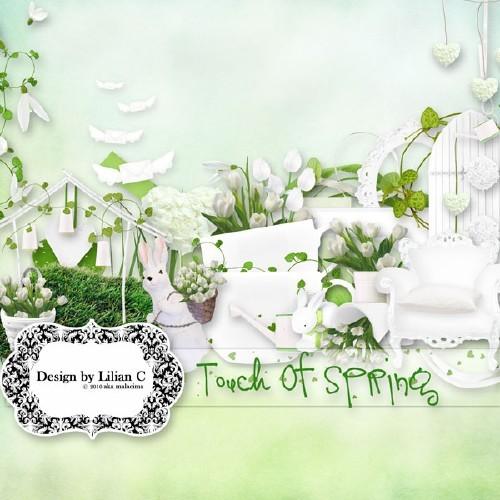 Светлый весенний скрап-набор - Прикосновение весны