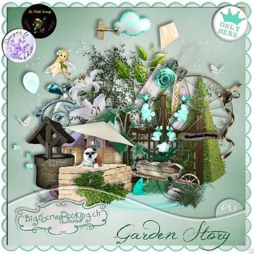Весенний скрап-набор - История сада