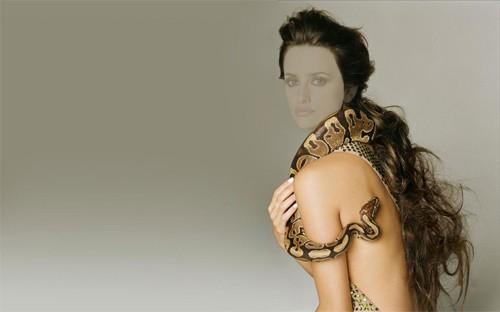Женский шаблон - змея и девушка