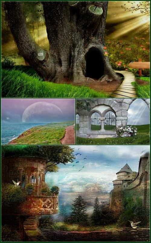 Фоны для фотошопа - Волшебная фантазия 2