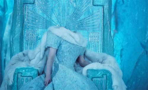 Шаблон для фотошопа - королева холодного мира