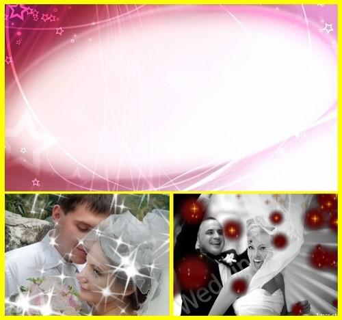 Подборка свадебных футажей-фонов с альфаканалом