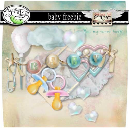Детский скрап-набор для новорожденных - Малышка