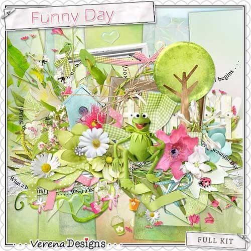 Симпатичный весенний скрап-набор - Забавный день