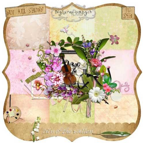 Яркий весенний скрап-набор - Долина цветов