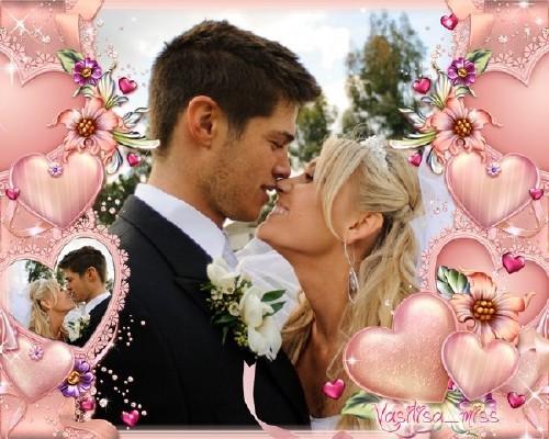 Романтическая рамка - Розовая романтика