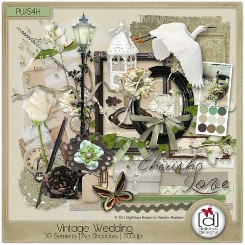 Свадебный скрап-набор - Винтажная свадьба