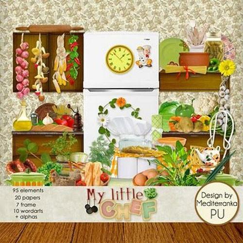 Детский поварской скрап-набор - Мой маленький шеф-повар