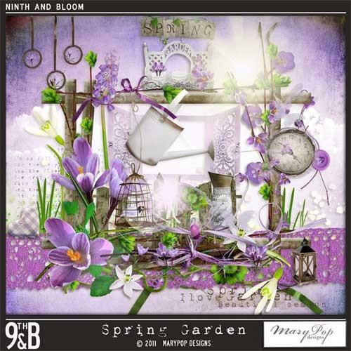Весенний цветочный скрап-набор - Весенний сад