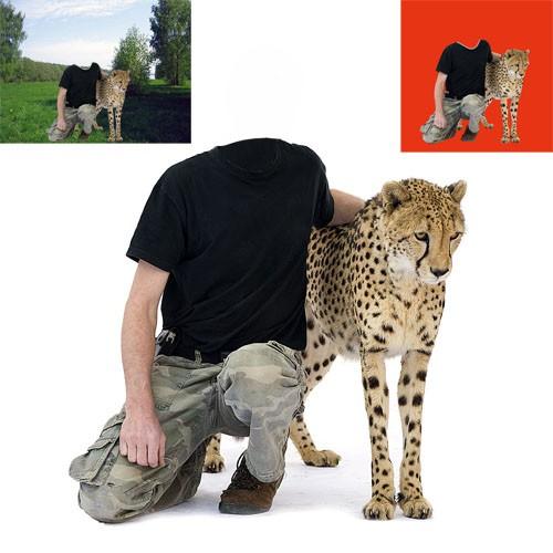 Шаблон для мужчин - с хищником