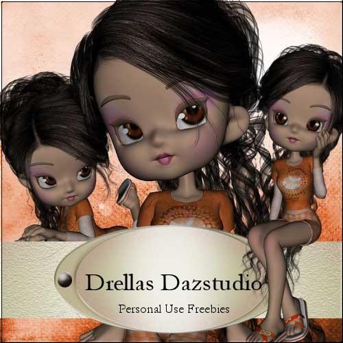 Скрап-набор с 3D куколками - Blossom