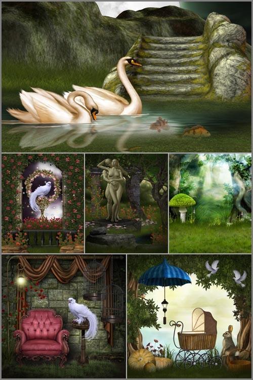 Фоны для фотошопа - Волшебная фантазия 5